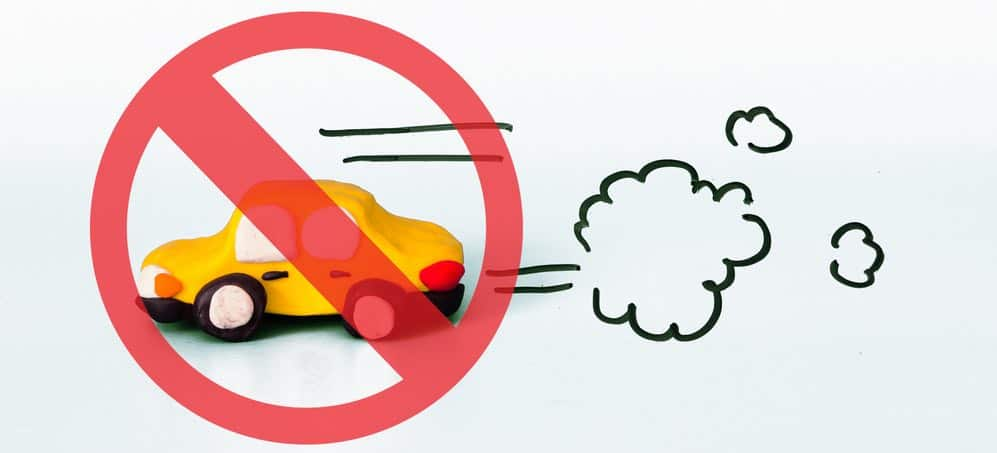 verboden voor vervuilende auto's