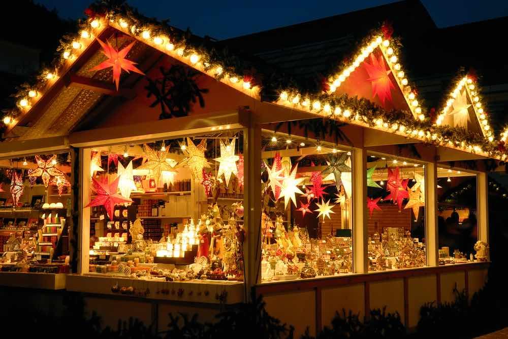 Traditionale kerstkraam in Dusseldorf