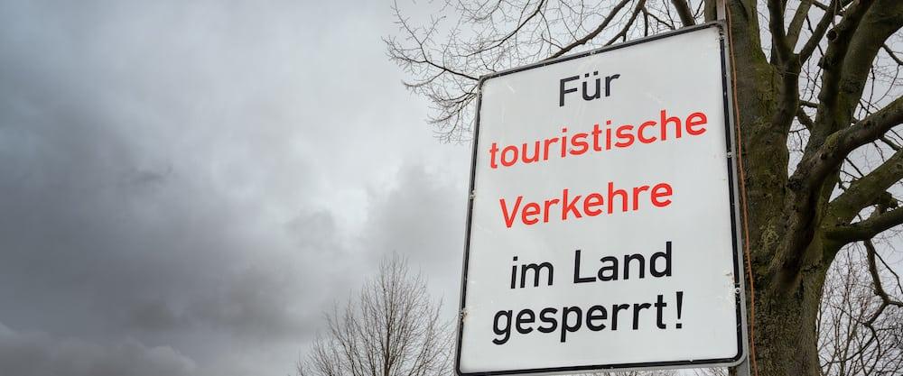 Grens Gesloten Voor Toeristen