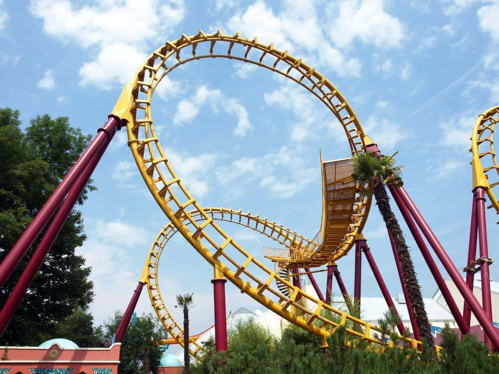 attractie achtbaan in Movie Park Germany